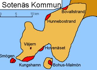 Sotenäs Municipality - Detailed municipal map