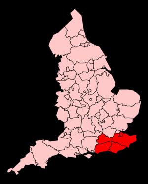 South East Coast Ambulance Service - Map of the South East Coast Ambulance Service's coverage