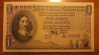 South African pound currency used in South Africa (1910–1961)