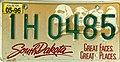 South Dakota 1996 license plate - 1H 0485.jpg