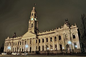 South Melbourne Town Hall - Image: South Melbourne Town Hall at night