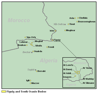 South Oran and Figuig Berber - Image: South Oranie and Figuig Berber
