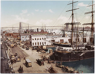 South Street Seaport - South Street and Brooklyn Bridge (c.1900)