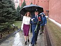 Soyuz MS-04 Jack Fischer and his wife at Kremlin Wall Necropolis.jpg