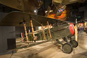Lo SPAD S.VII esposto al National Museum of the United States Air Force