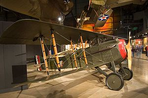 103d Aero Squadron - Spad VII displayed in livery of the 103d Aero Squadron
