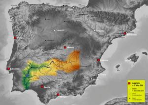 Guadiana - The Guadiana drainage basin in the Iberian peninsula