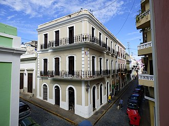 Spanish Colonial architecture - Spanish style in Old San Juan, Puerto Rico