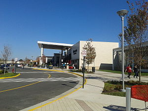 Springfield Town Center - The main entrance of the revitalized Springfield Town Center