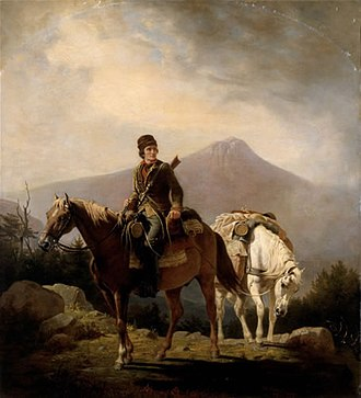 Long Run massacre - Image: Squire Boone Crossing the Mountains with Stores for His Brother Daniel