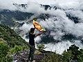 Sri lankan flag with the mist.jpg