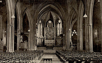 St John the Divine, Kennington - The original interior, c.1900