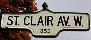 St. Clair Avenue - Image: St. Clair Ave Sign
