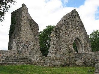 St Mary the Virgin Church, Caerau, Cardiff - Church in ruins in 2011