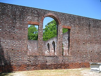 National Register of Historic Places listings in Brunswick County, North Carolina - Image: St. Philip's Church Ruins