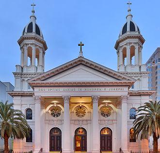 Cathedral Basilica of St. Joseph (San Jose) - Image: St Joseph Dusk