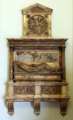 Monument to Sir Nicholas Carew in St Botolph-without-Aldgate, London St Botolph without Aldgate, London EC3 - Monument - geograph.org.uk - 1229939.jpg