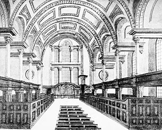 St James's Church, Piccadilly - Interior circa 1806