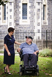 Caregiver person who helps another individual who is older or with an impairment with his or her activities of daily living