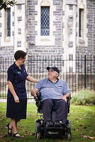 Caregiver - A resident of St John of God Trust and a caregiver in Halswell, New Zealand