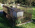 St Mary's Church, Great Canfield, Essex ~ churchyard fenced tomb.jpg