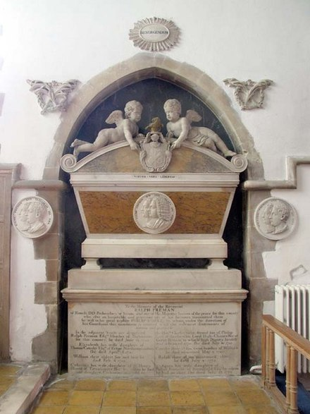 Freeman monument at St Mary's, Braughing, Herts St Mary, Braughing, Herts - Monument - geograph.org.uk - 370477.jpg