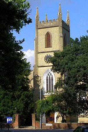 Shirley Parish Church - St James' church from Church Street