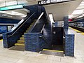 Stairs in 19th Street Oakland station, January 2020.JPG