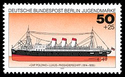 Cap Polonio in the stamp year 1977 of the Deutsche Bundespost Berlin