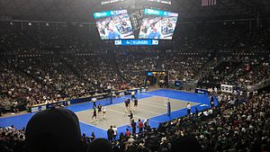 During 2011 Hawaii-USC Volleyball Match