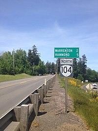 Start of Oregon Route 104.jpg