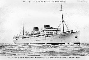MV Carnarvon Castle - Image: State Lib Qld 1 127151 Carnarvon Castle (ship)