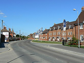 Royal Wootton Bassett - New housing on the large site of the former St Ivel factory