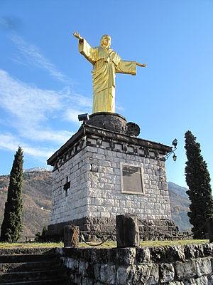 Bienno - Statua di Cristo Re (Timo Bortolotti - 1930)