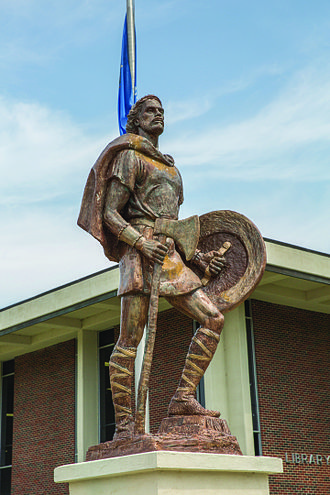 Northeastern Oklahoma A&M College - Image: Statue of Odin on the Campus of NEO A&M College