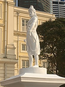 Statue of Sang Nila Utama at the Raffles Landing Site (three-quarter front view).jpg