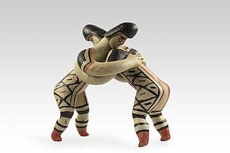 Wrestling - Statuette Karajà, wrestlers - Muséum de Toulouse (MHNT)