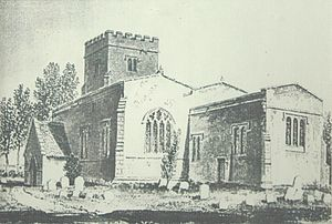 Steeple Barton - St Mary the Virgin parish church before it was largely demolished and replaced in 1850