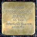Stern Spronz Aranka stolperstein (Budapest-07 Huszár u 6).jpg