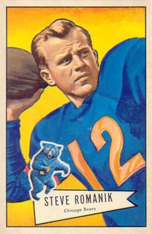 Steve Romanik - Romanik on a 1952 Bowman football card