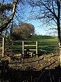 Stile out of Morley's Brake - geograph.org.uk - 690070.jpg
