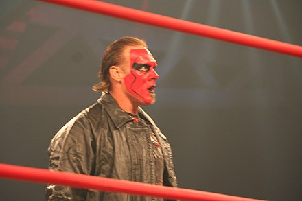 Sting with red face paint in July 2010 Sting July 2010.jpg