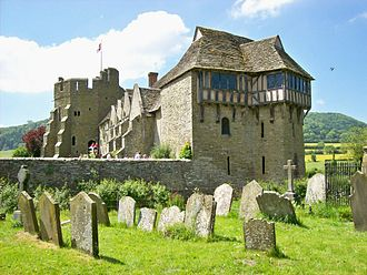Stokesay Castle - Stokesay Castle, viewed from the church yard, showing the north tower in the foreground