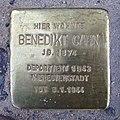 Stolperstein Eschersheimer Landstraße 10 Benedikt Cahn.jpg