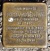 Stolperstein Fanningerstr 53 (Liber) Frieda Rosenthal.jpg