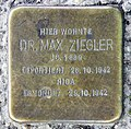Stolperstein Klopstockstr 25 (Hansa) Max Ziegler.jpg