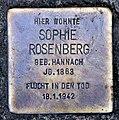 Stolperstein Scharfestr 14 (Zehl) Sophie Rosenberg.jpg