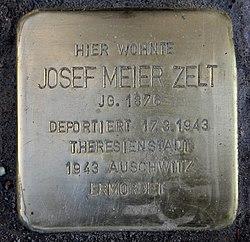 Photo of Josef Meier Zelt brass plaque