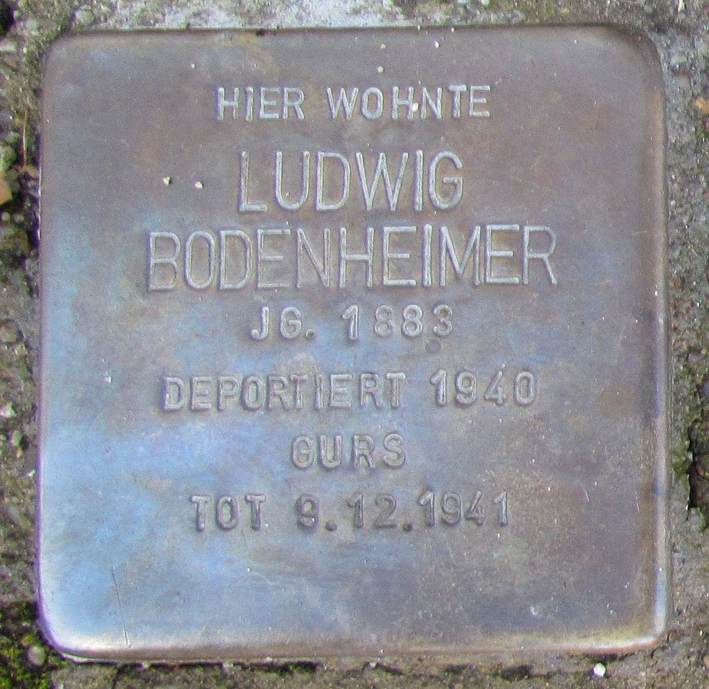 Stolpersteine in Ettlingen Ludwig Bodenheimer Pforzheimer Str 10 (fcm).jpg