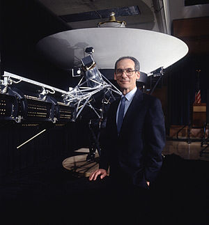 Edward C. Stone - Stone with a Voyager model in 1992